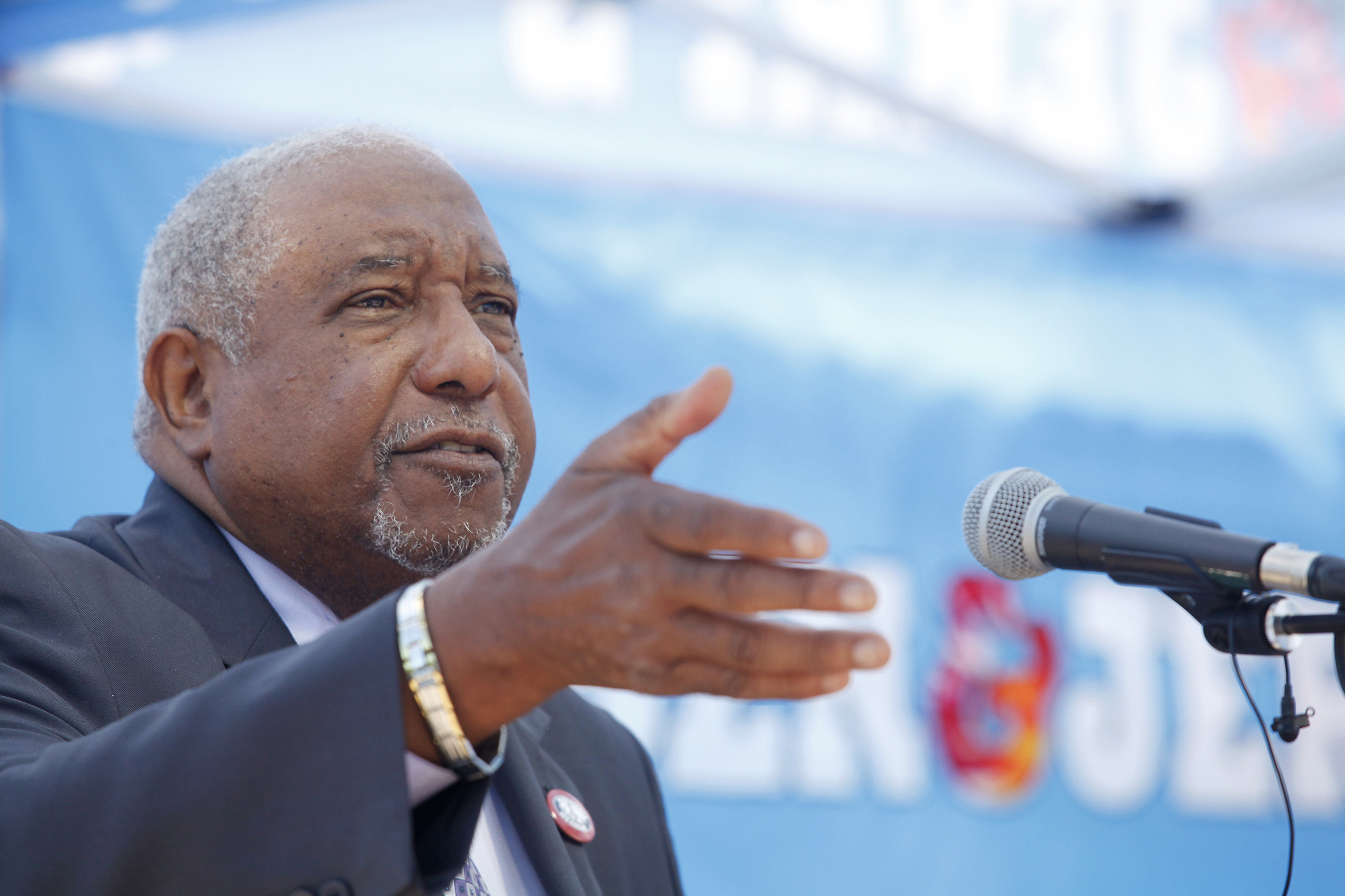 Dr. Bernard LaFayette shared his perspective as a long-time civil rights activist at the opening of an exhibit on the 1968 Poor People's Campaign at Ben & Jerry's Vermont factory.