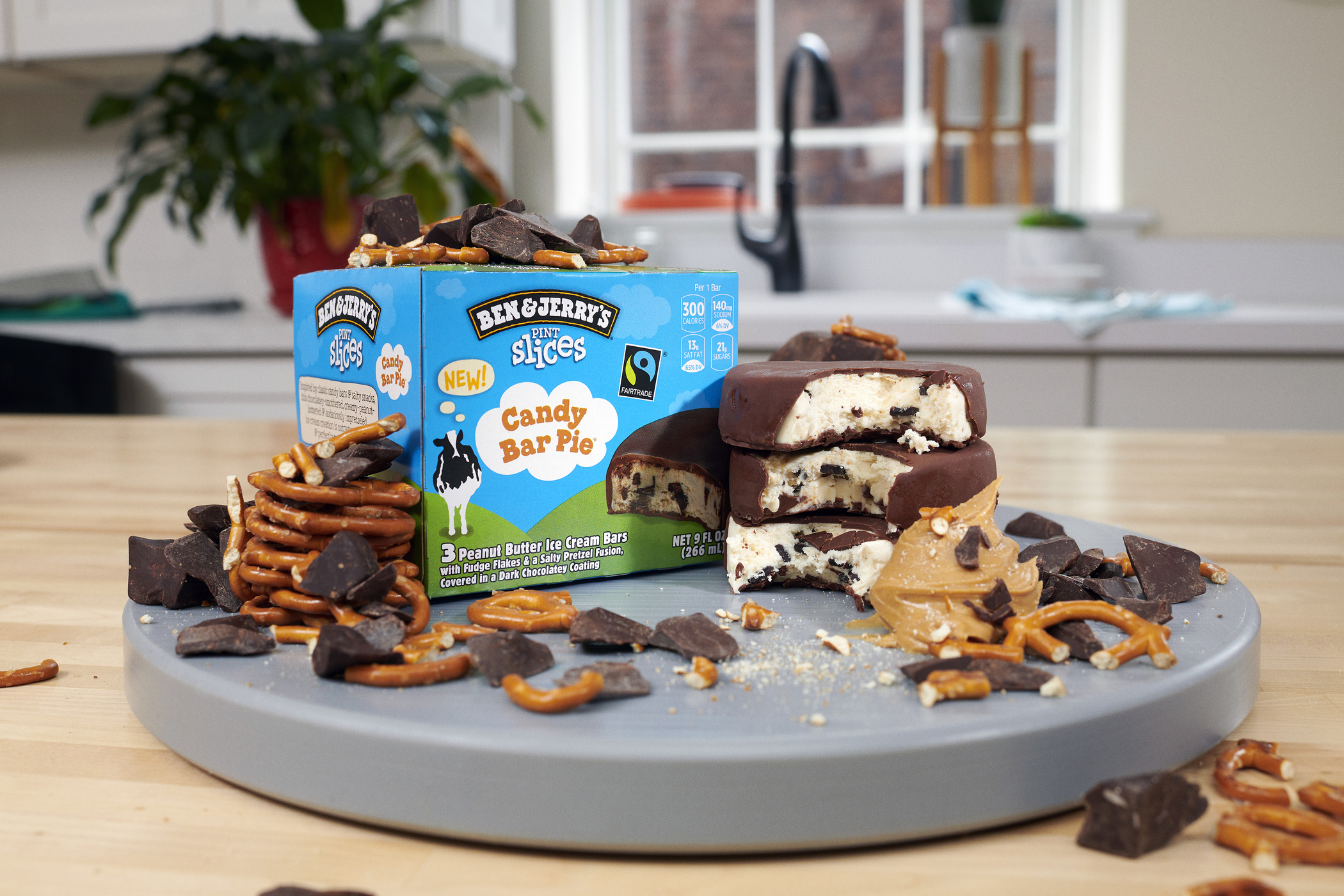 Candy Bar Pie was a Limited Batch flavor that went to Ben & Jerry's Flavor Graveyard. Now it's rein-cone-ated as a Pint Slice.