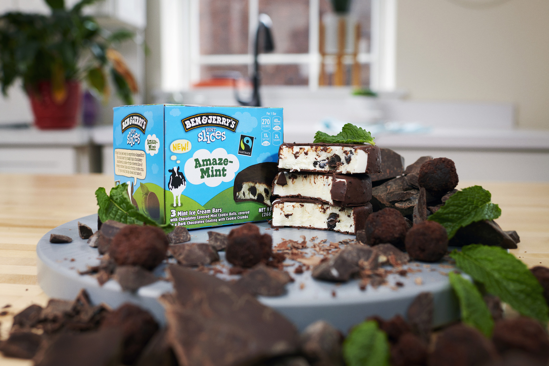 No spoon? No problem. Ben & Jerry's Pint Slices are now available in AmazeMint.