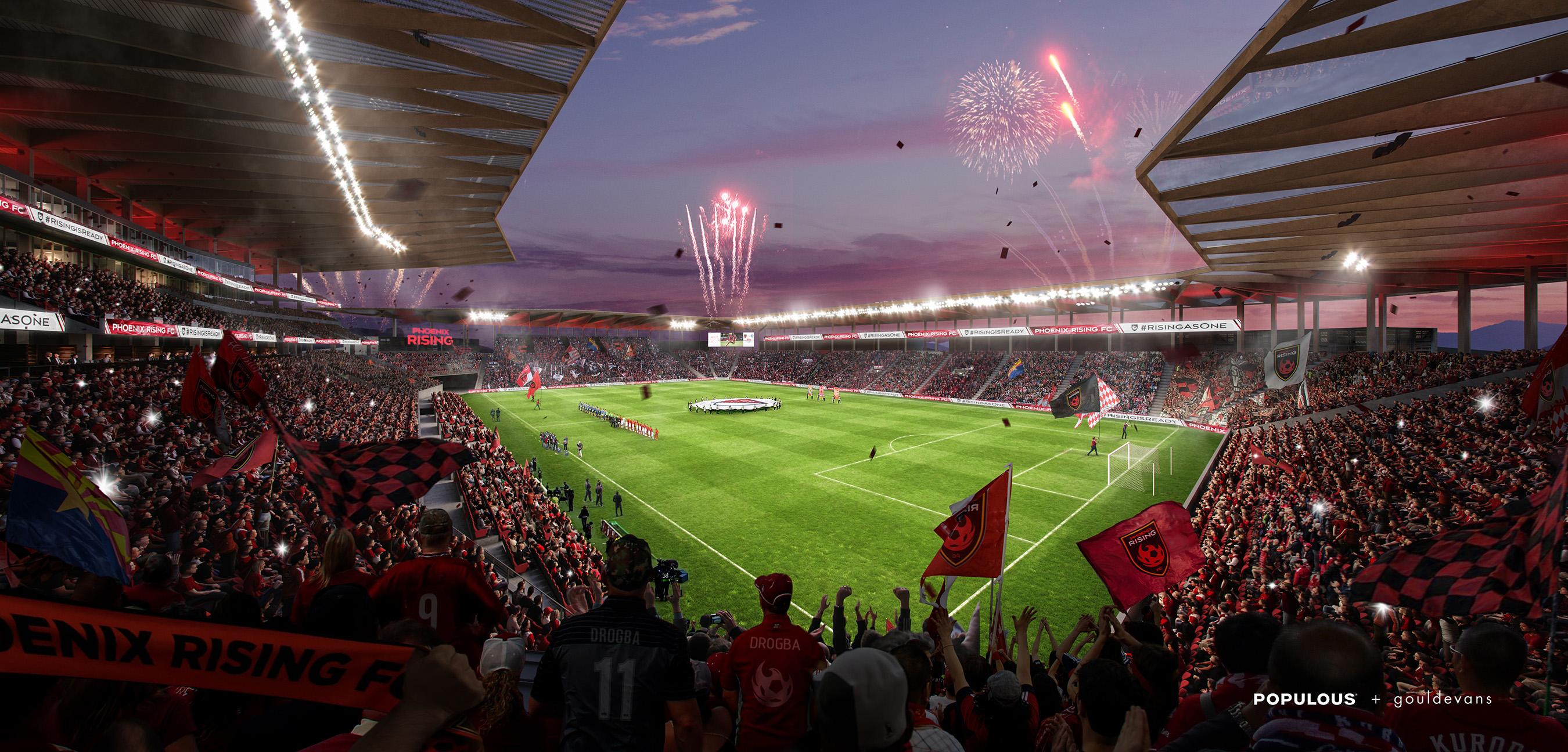 Phoenix Rising Football Club Offers Sneak Peak of Proposed Major League Soccer Stadium