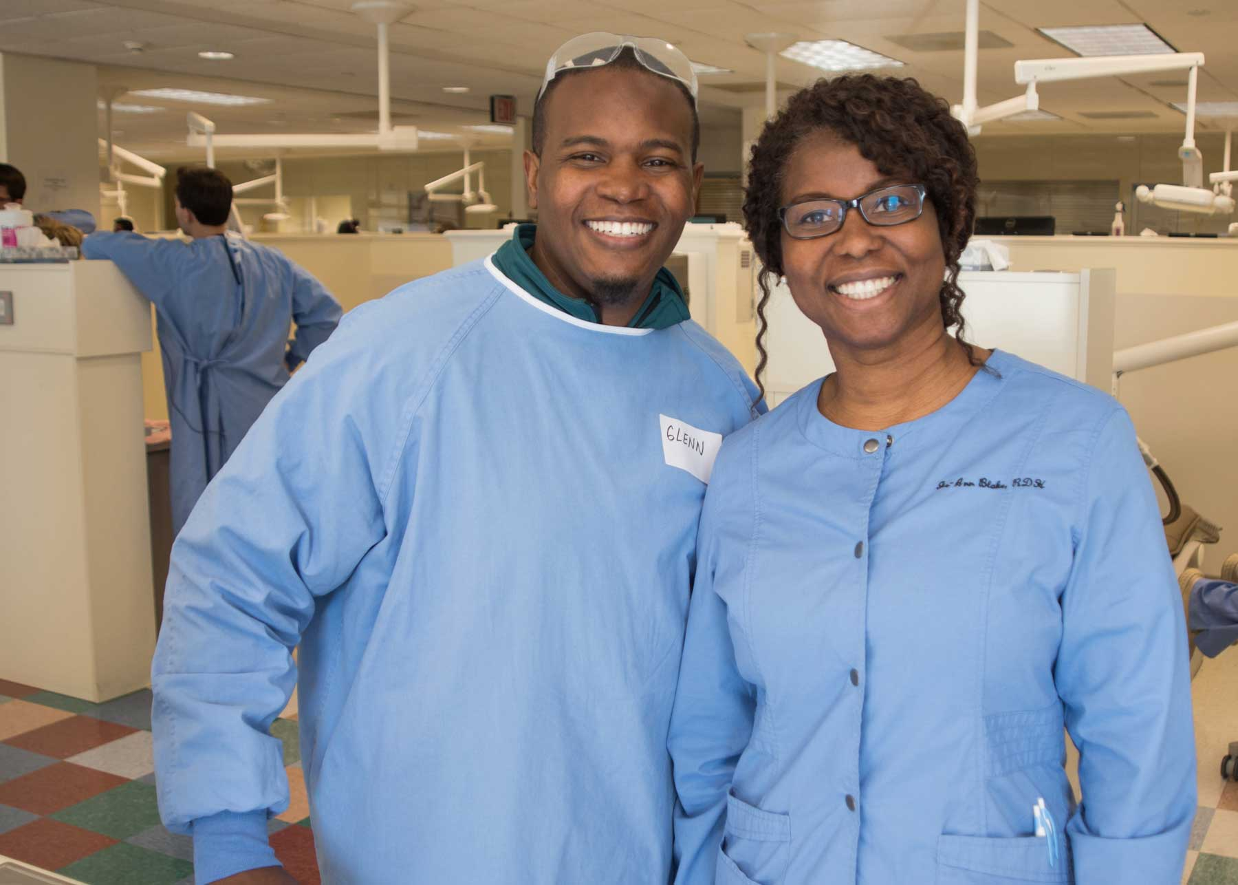 Some of the more than 200 annual volunteers from the UNC-CH School of Dentistry on a previous Give Kids A Smile Day.