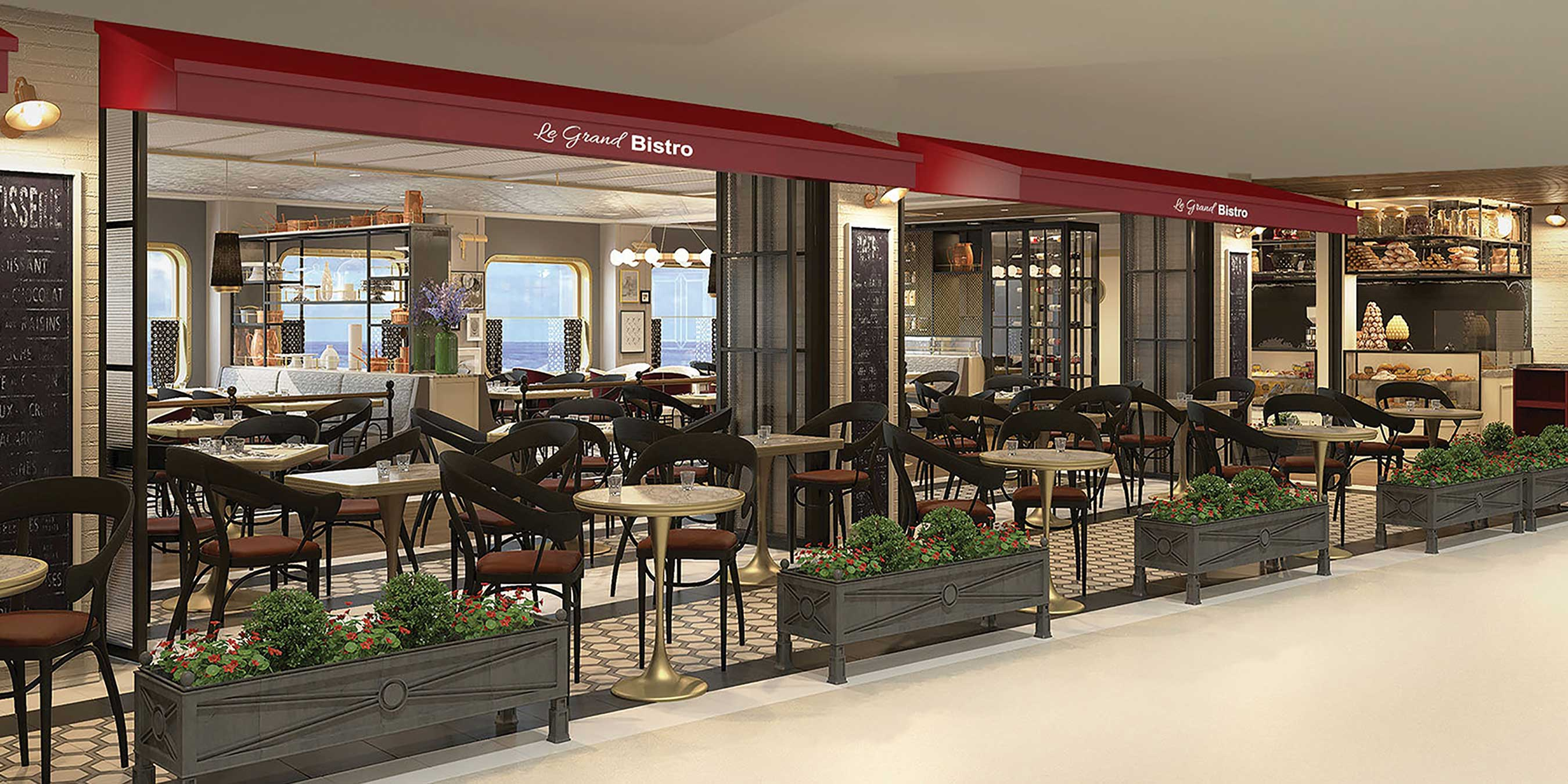Le Grand Bistro will serve upscale French cuisine with stunning views of the sea