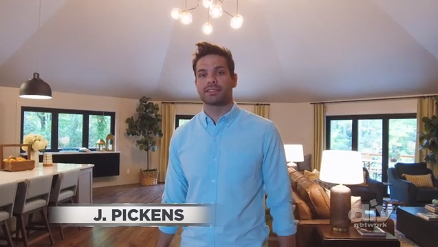 Host J. Pickens takes you on a 90-second interior tour of DIY Network Ultimate Retreat 2018, showcasing the home's elegant, modern mountain aesthetic.