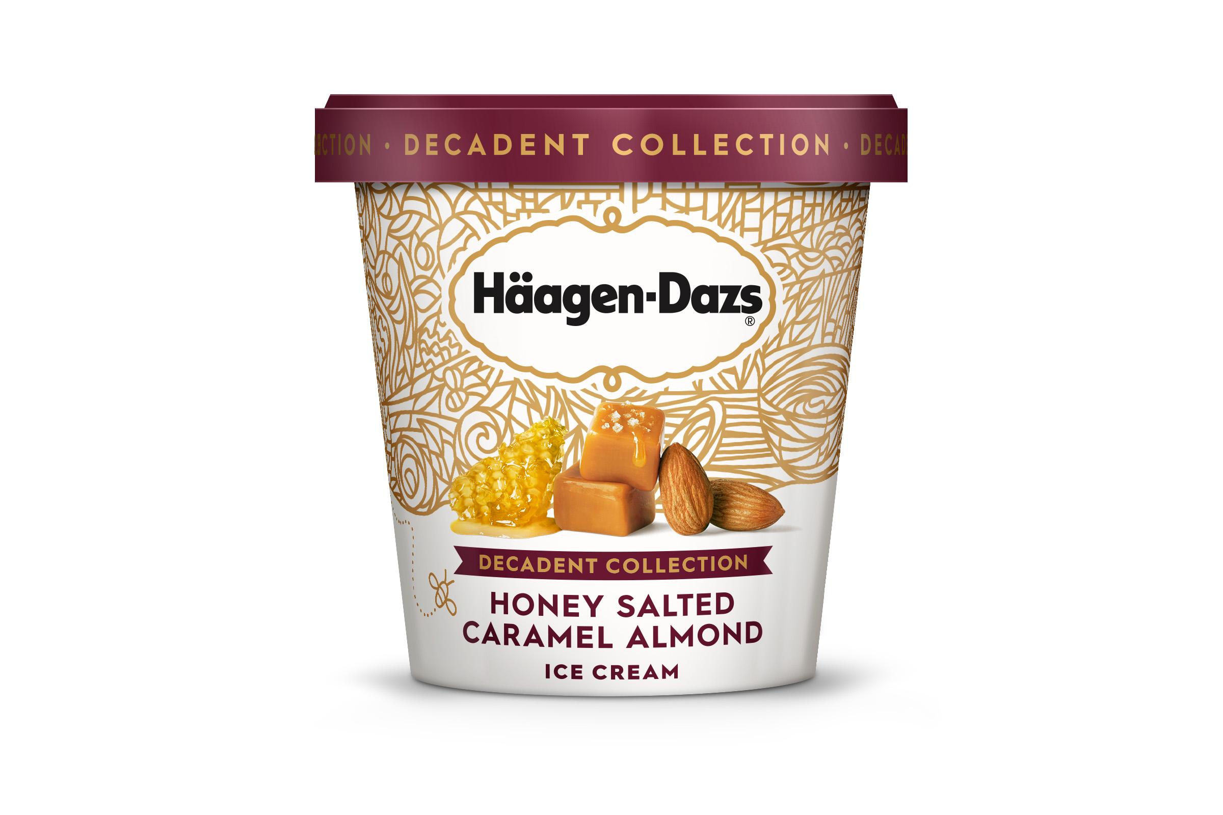 Häagen-Dazs® Honey Salted Caramel Almond Ice Cream Packaging