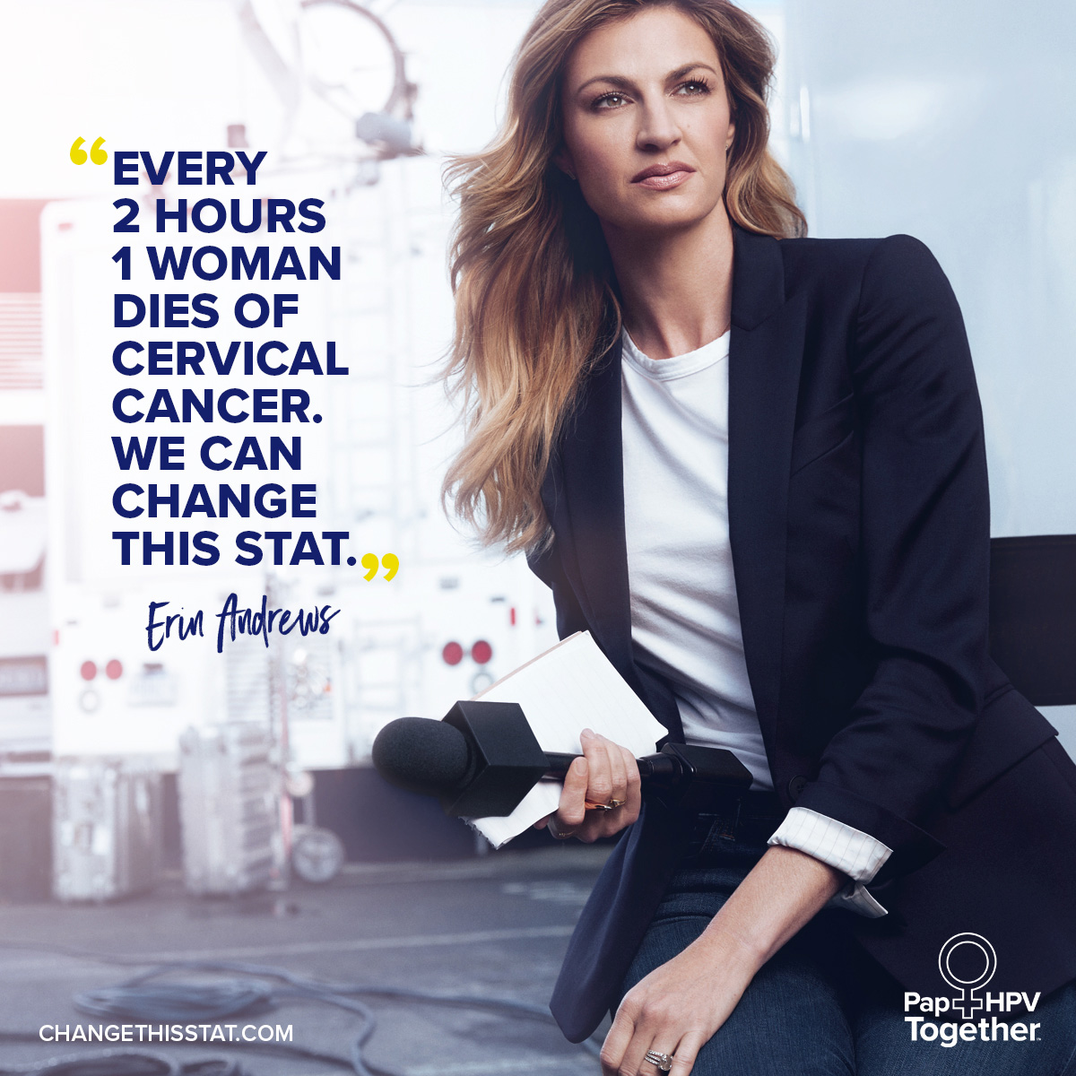 "To change this stat, Hologic, Inc. is partnering with sports reporter and host of ""Dancing with the Stars,"" Erin Andrews, to mobilize women to take control of their health and ensure they are being regularly tested for cervical cancer."