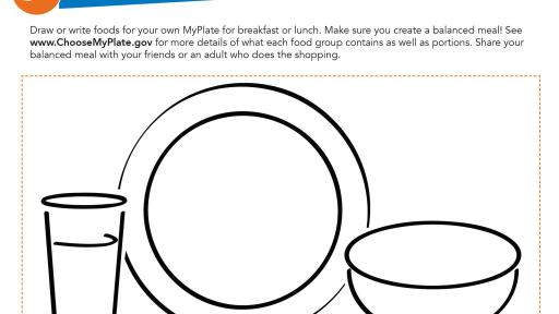Explore STEM with a homemade yogurt recipe and MyPlate coloring activity.