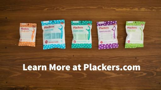 Never have to worry about spilling your flossers with Placker's new packaging.