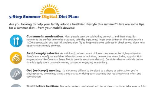 5-Step Summer Digital Diet