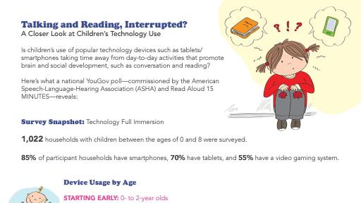 Talking and Reading, Interrupted?