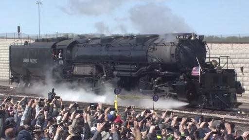 Play video: Union Pacific celebrates the 150th anniversary of the transcontinental railroad's completion at a ceremony at Ogden, Utah.