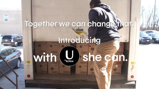 As the founding sponsor of the Alliance for Period Supplies, U by Kotex will expand our commitment by increasing awareness and access to those in need. Visit UbyKotex.com for ways to get involved.