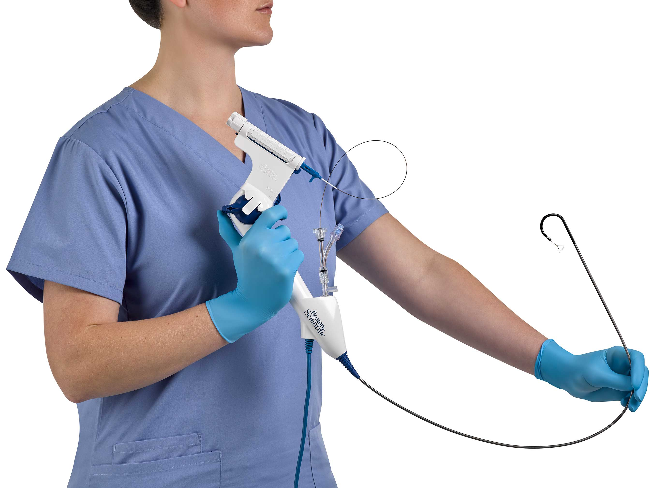 Holding LithoVue Empower Device