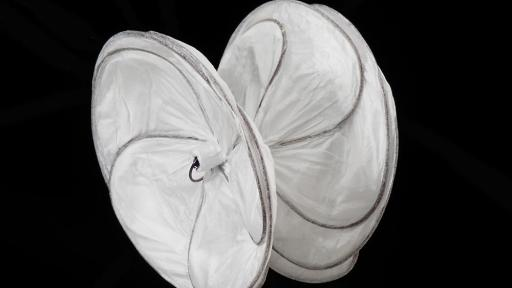 Side view of the GORE® CARDIOFORM Septal Occluder device