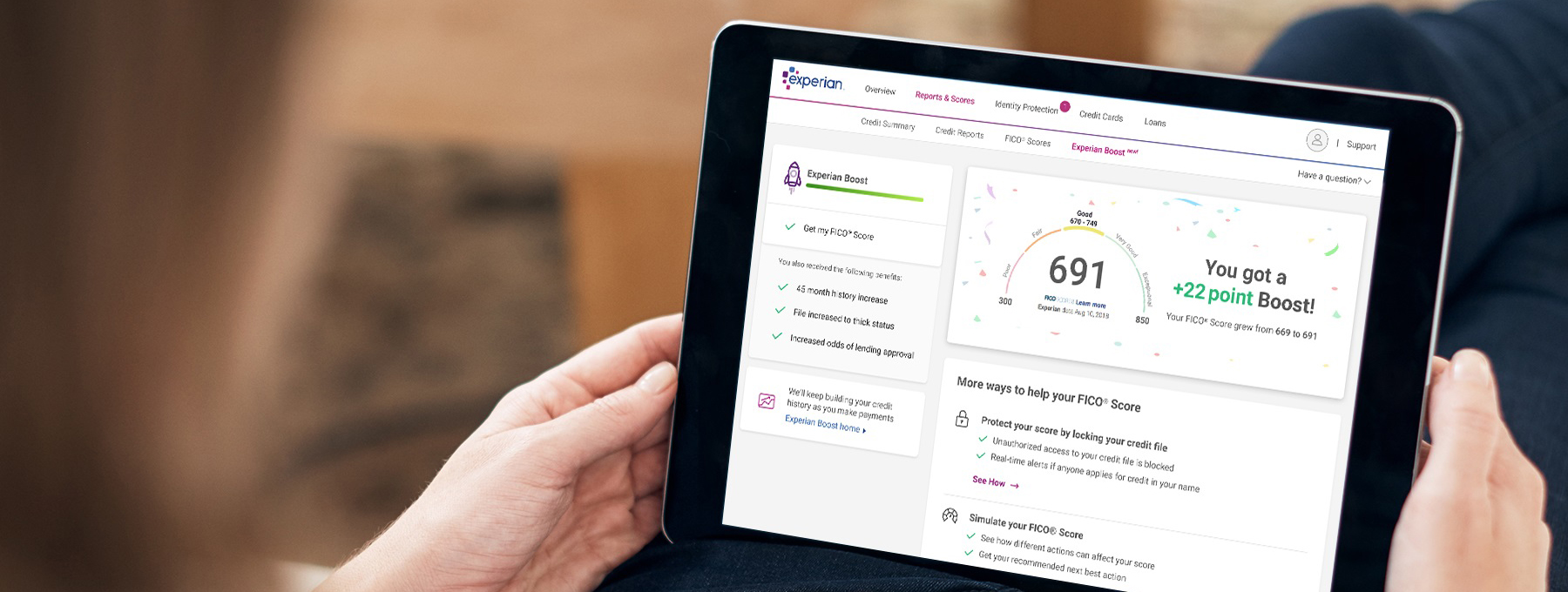 Experian Boost Tablet