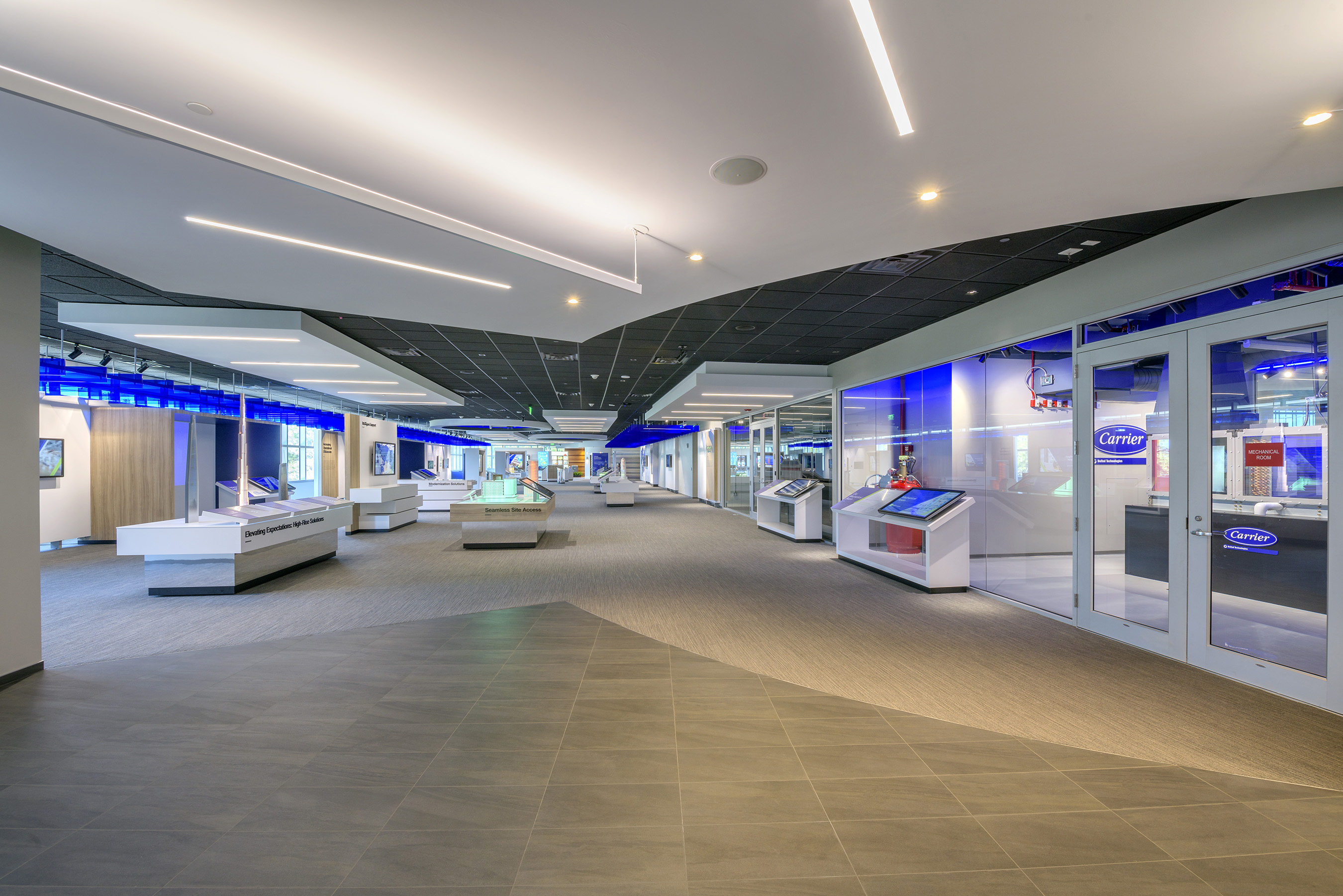 Our state-of-the-art customer experience center highlights our company and our solutions both in the building and around the world, through actual products, touch-screen displays, models and more.