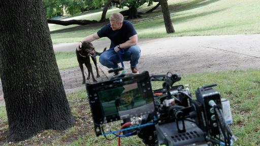 Sean Lowe and his dog Ellie, Behind the Scenes