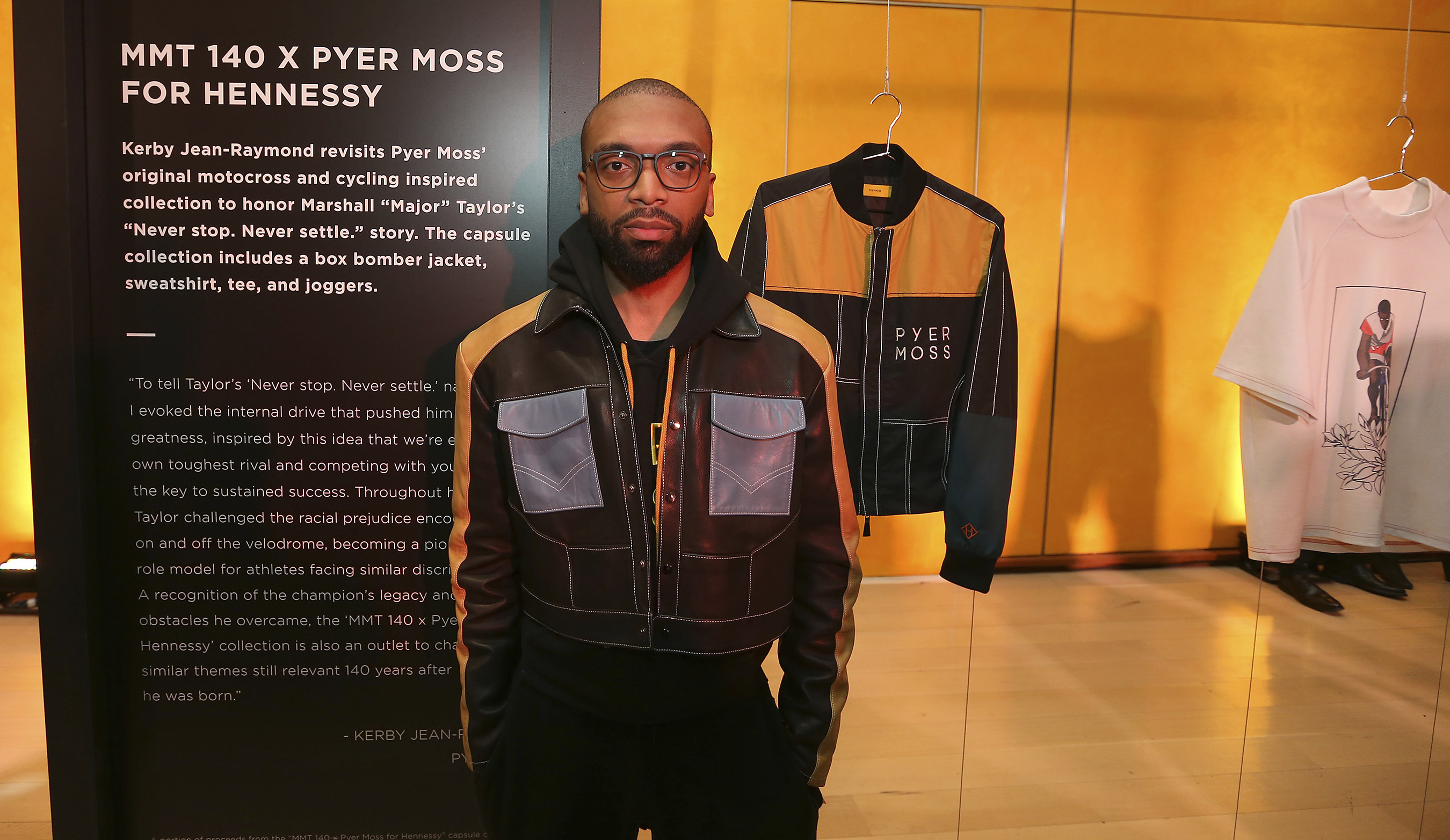 Designer Kerby Jean-Raymond of Pyer Moss captures themes of inner rivalry in a cycling-inspired capsule collection.