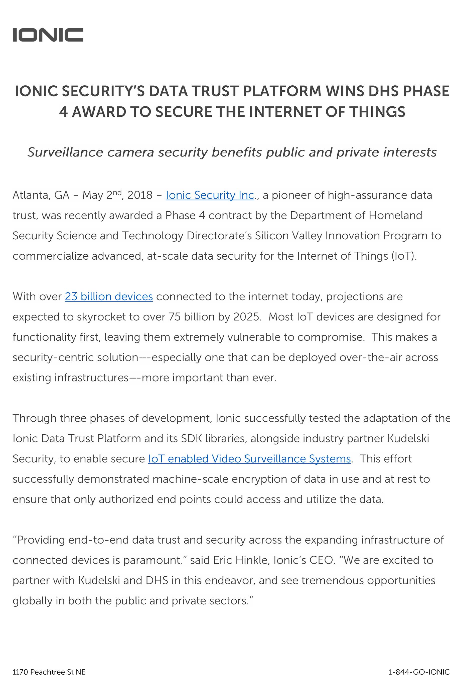 Ionic Announces Cross-Cloud Data Trust Ecosystem