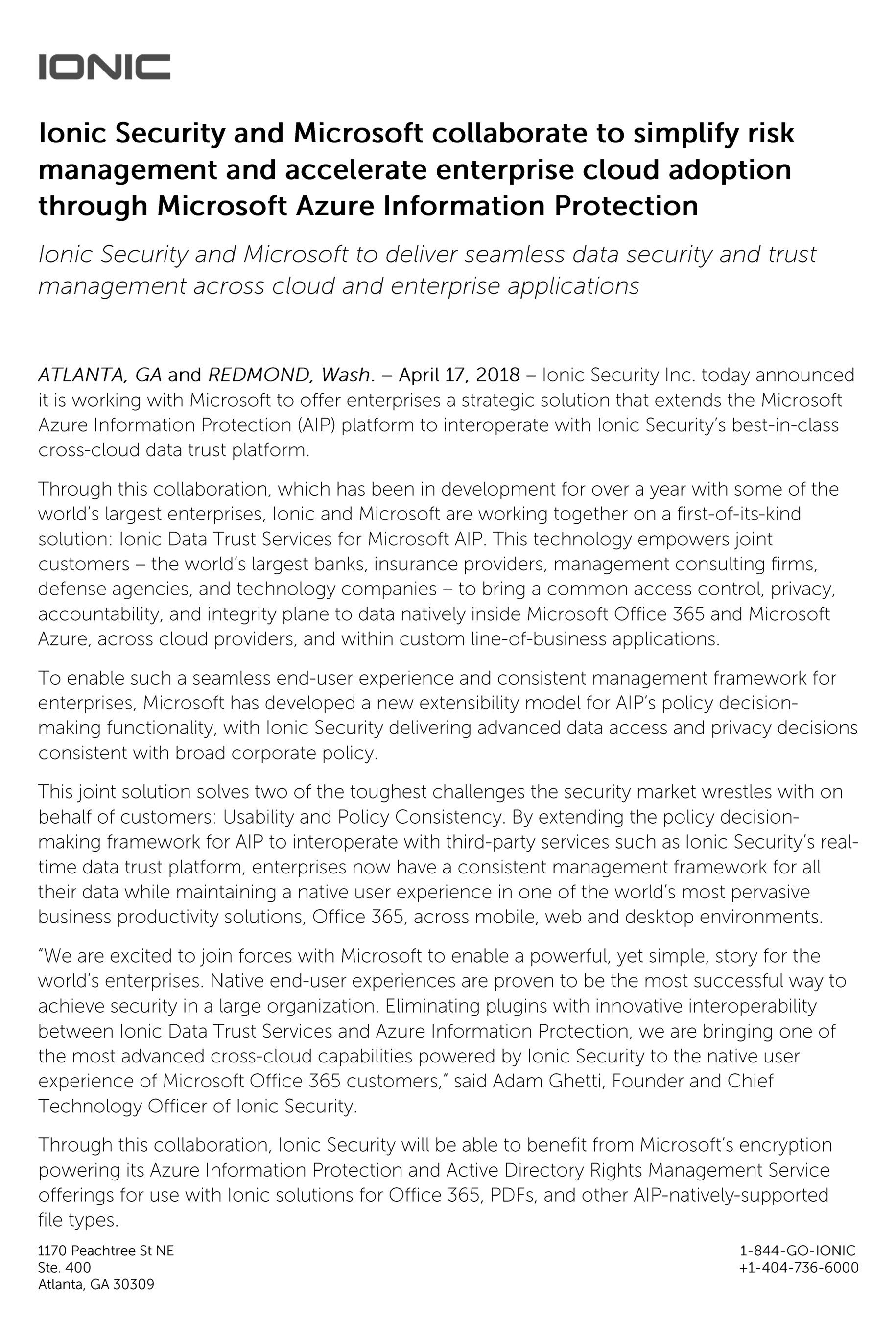 ionic announces cross cloud data trust ecosystem