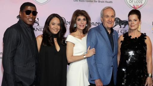 Kenny Babyface Edmonds, Nicole Pantenburg, Camille Ruvo, Larry Ruvo and Marcia Gay Harden at Keep Memory Alive's 22nd annual Power of Love gala, April 28 at MGM Grand Garden Arena