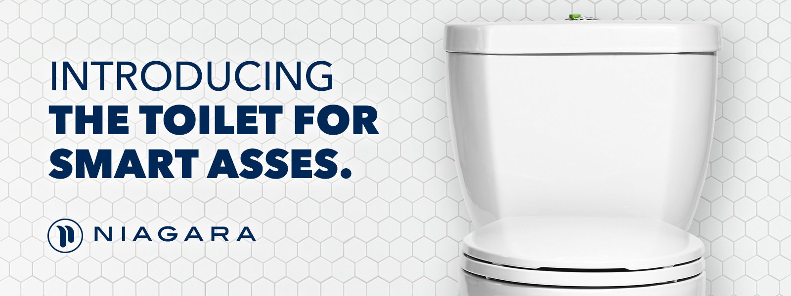 Banner image of a toilet for Niagara's campaign