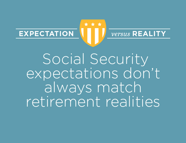 Social Security expectations don't always match retirement realities