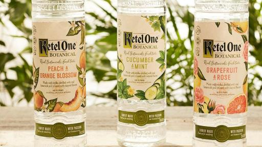 Ketel One Botanical Bottle Trio: Peach & Orange Blossom, Cucumber & Mint, and Grapefruit & Rose