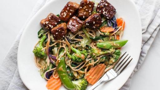 Video showing how to turn the Fresh Express Teriyaki Bok Choy Sauté Kit into a delicious meal