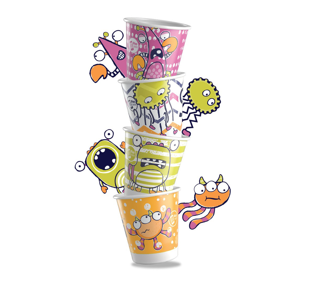 Dixie® Molar Monsters Cup Stack