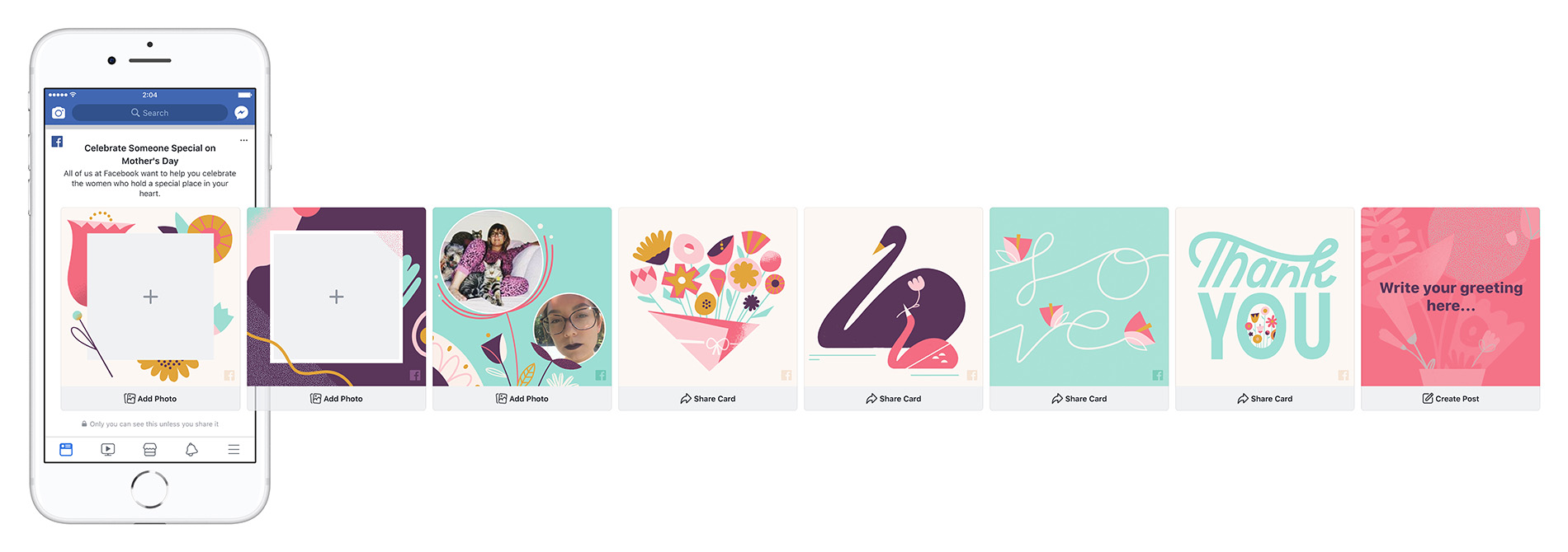 Facebook Cards for Mother's Day