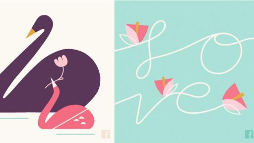 An image of the three Mother's Day Facebook cards