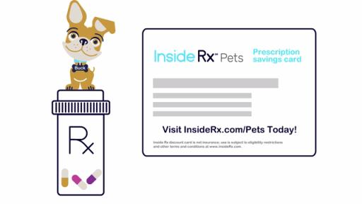 The Inside Rx Pet Program provides deep discounts on select medications to help pets stay healthy.