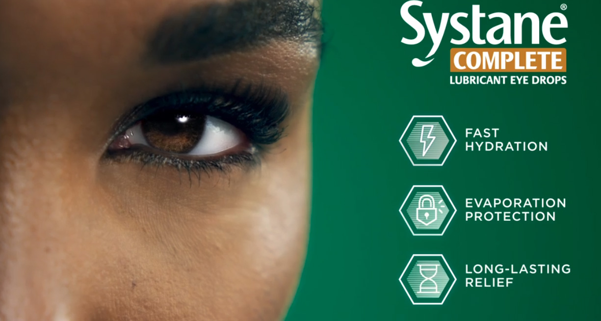 Alcon launches its newest lubricant eye drop, Systane® Complete, with the help of professional tennis superstar, Venus Williams.