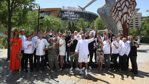 Renowned chefs gathered for the 12th annual Vegas Uncork'd by Bon Appétit Saber Off at MGM Resorts' The Park (credit Las Vegas News Bureau)