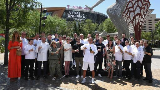 The 12th annual Vegas Uncork'd by Bon Appétit kicked off with a champagne saber-off MGM Resorts' The Park (credit Las Vegas News Bureau)