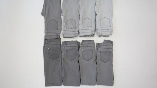 Picture of folded jeans.
