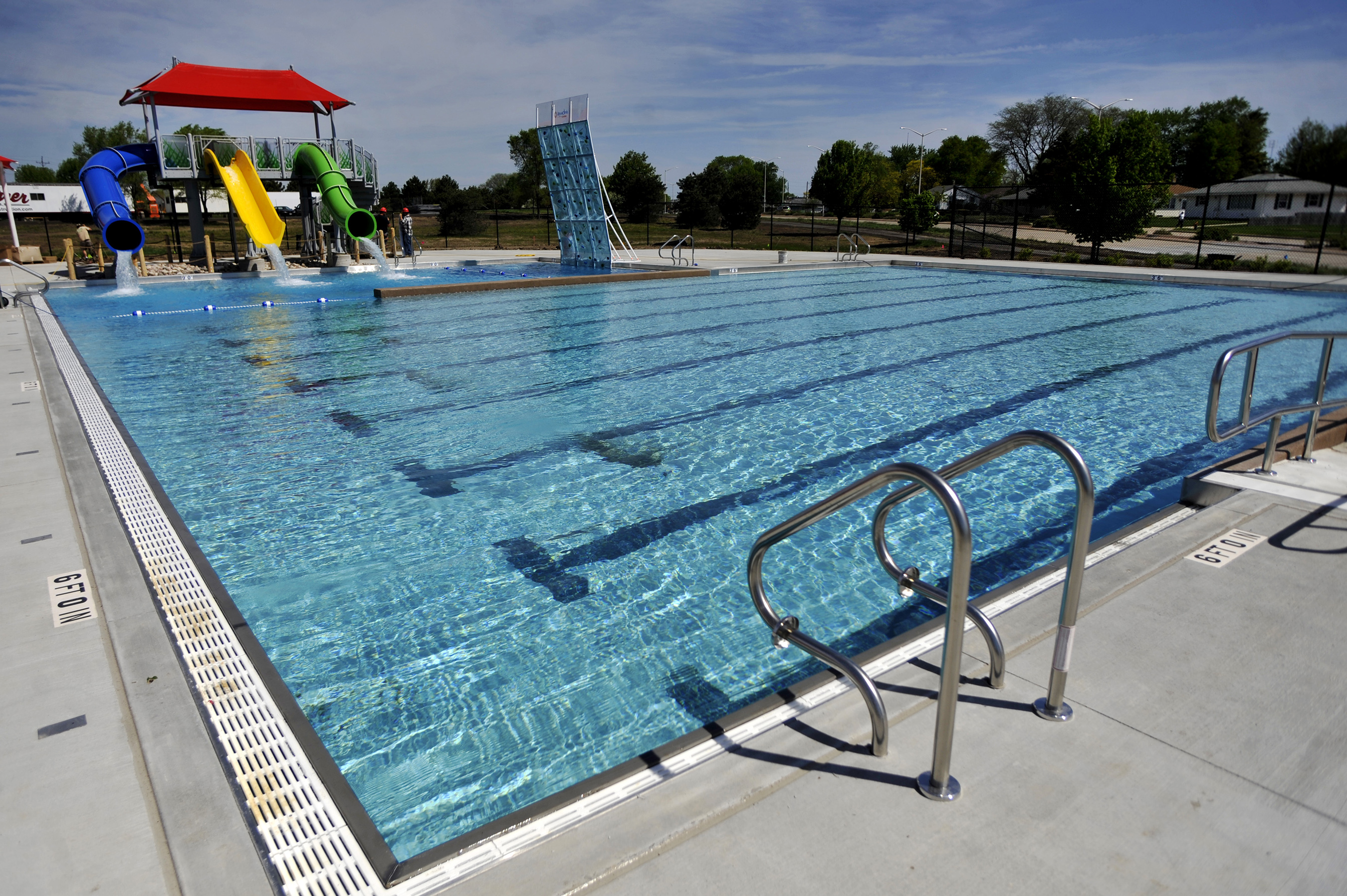 Ready for summer sc johnson community aquatic center opens - Valley center swimming pool hours ...