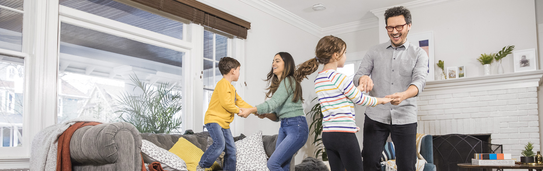 Family Room Couple With Children