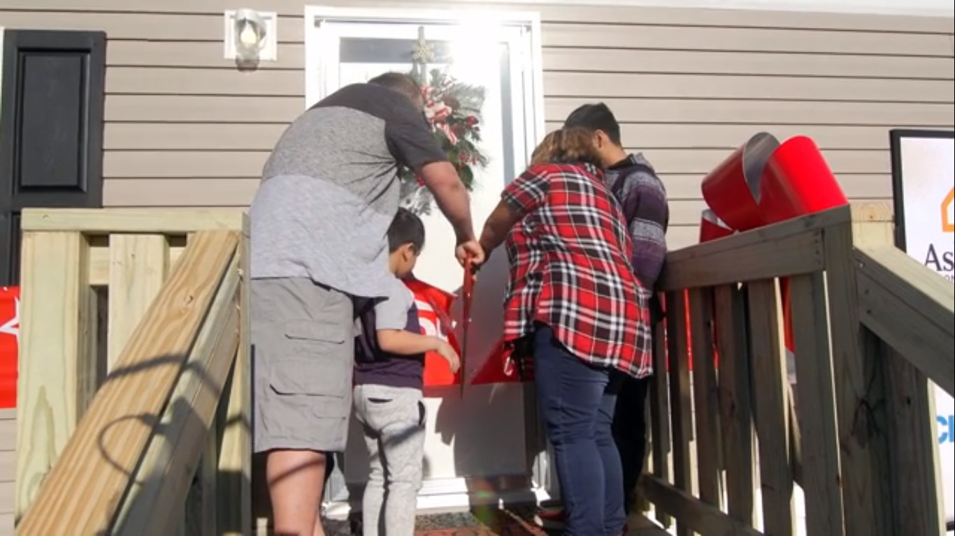 Clayton and Family Promise teamed up to present the De Paz family with a brand new home just in time for the holidays.