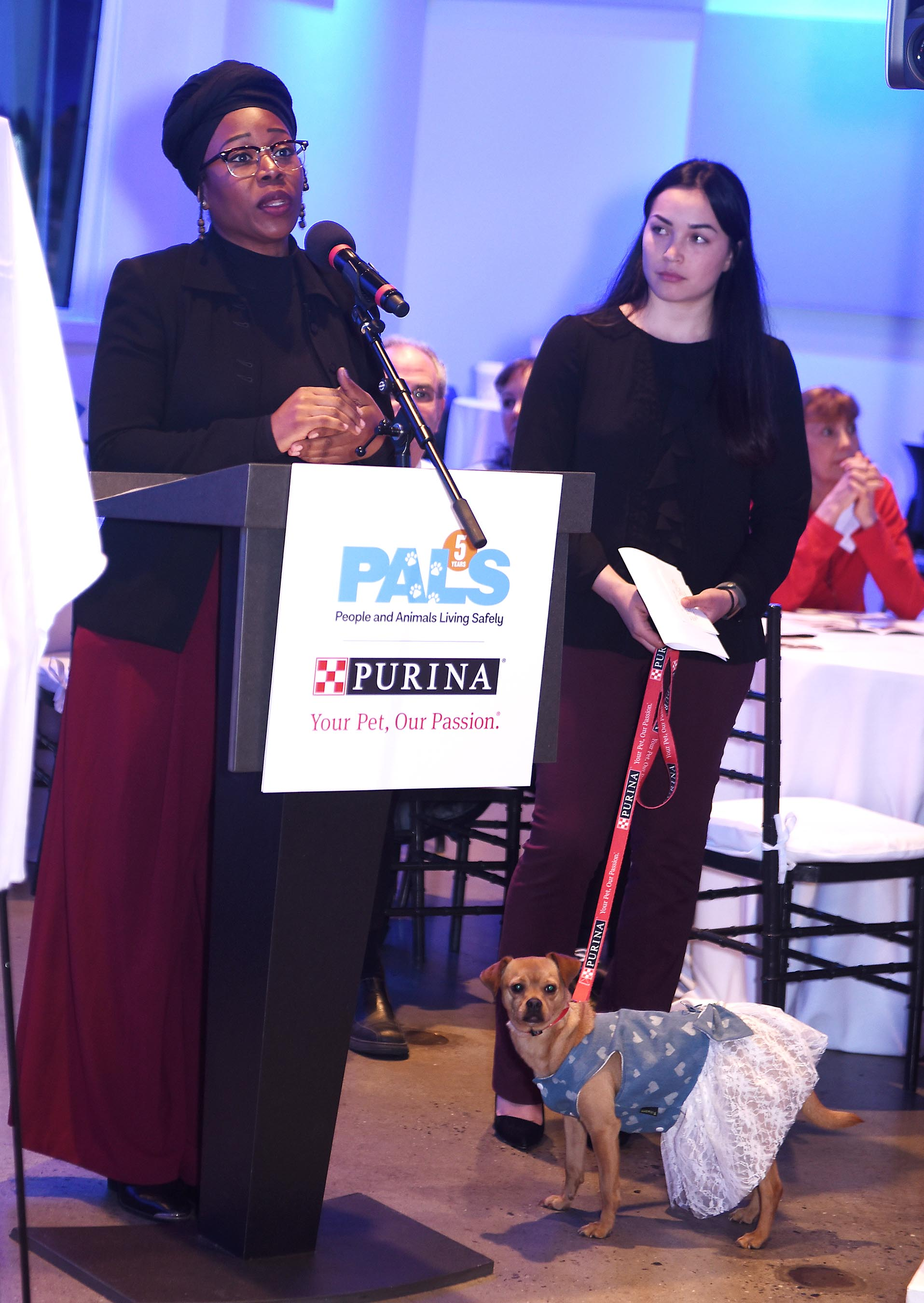 Domestic violence survivor, Hope Dawson and her dog Coco, have benefited from URI's PALS program. URI has welcomed over 100 pets into its residences across NYC.