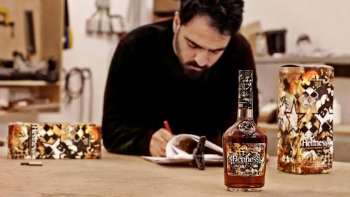 Vhils Designing The Hennessy Limited Edition Bottle
