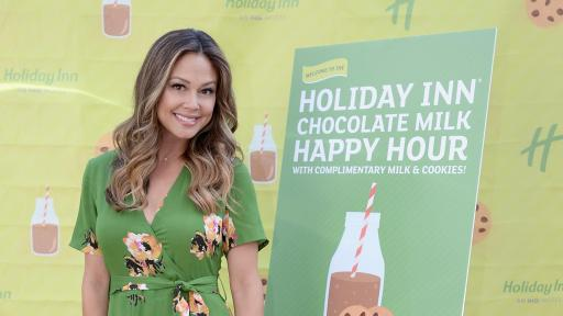 Actress and TV host Vanessa Lachey is the face of the Holiday Inn brand's Chocolate Milk Happy Hour where guests can enjoy fairlife Ultra-Filtered Milk and Otis Spunkmeyer baked goods this summer at 20 Holiday Inn hotels across the U.S.