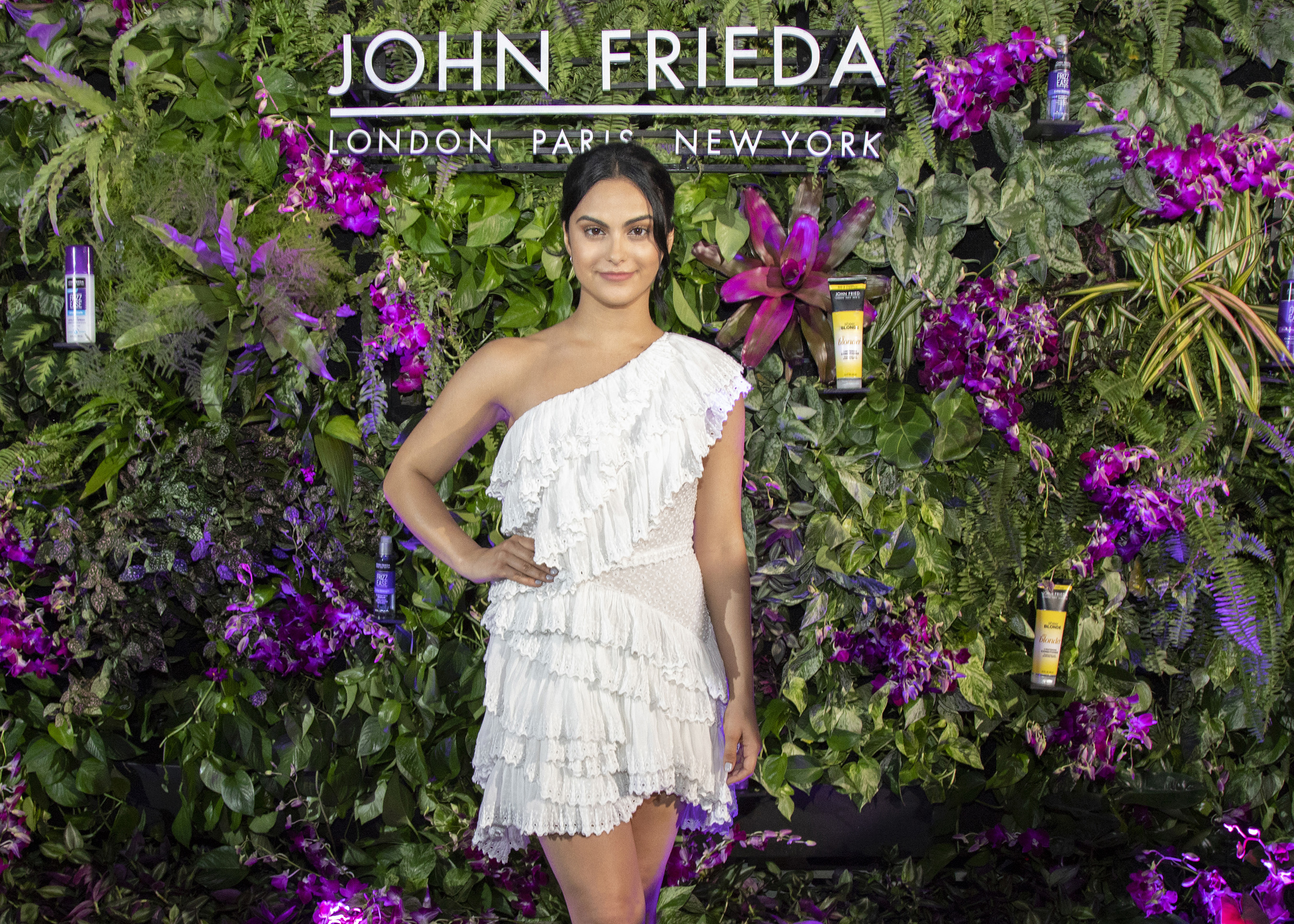 Camila Mendes celebrated her collaboration with John Frieda Hair Care in Miami