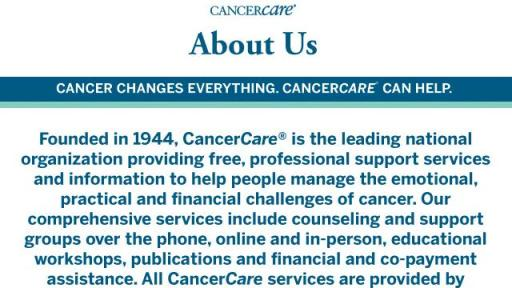 About CancerCare infographic