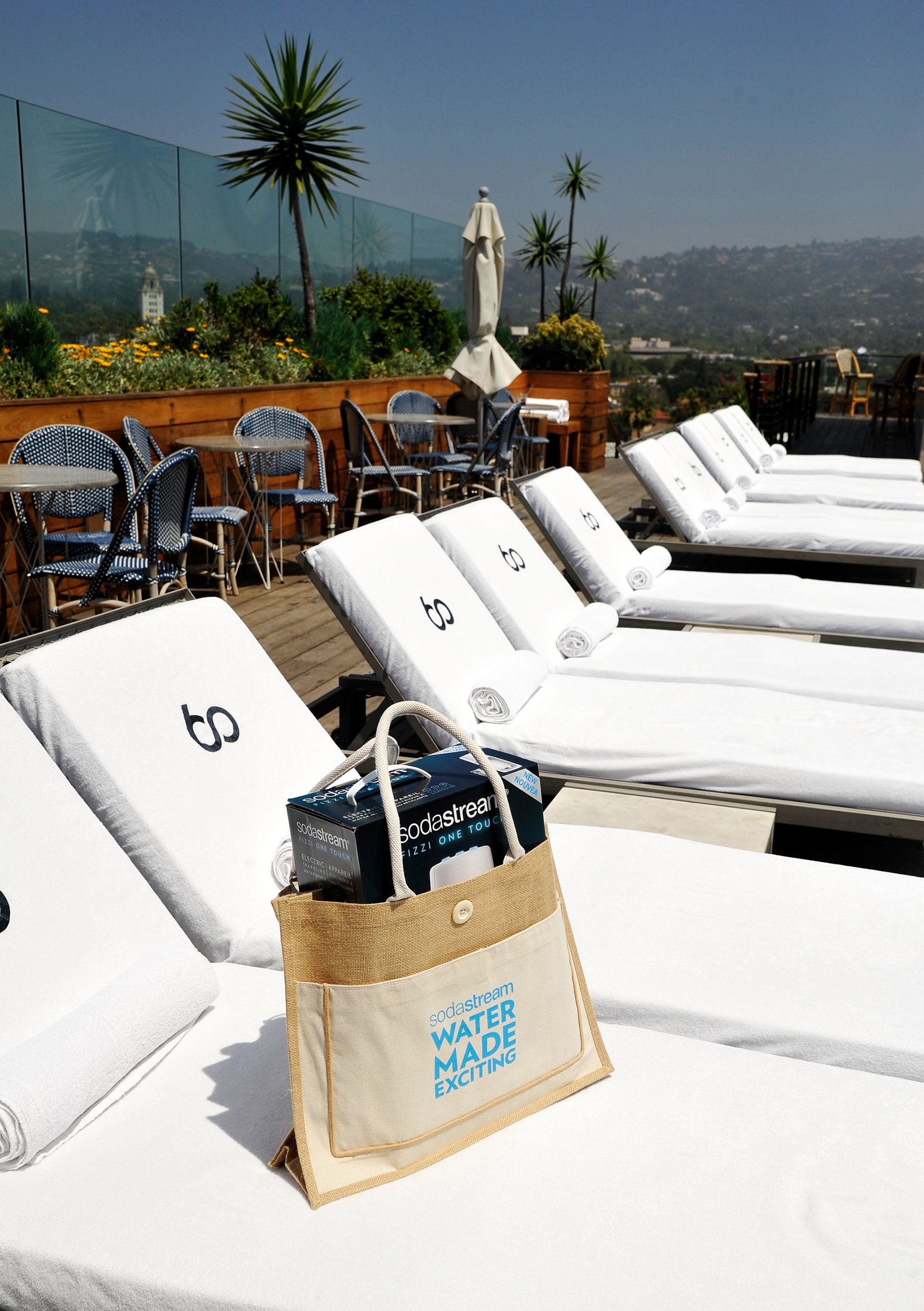 SodaStream celebrates National Hydration Day at with a sparkling water taste test at SIXTY Beverly Hills on June 20, 2018.