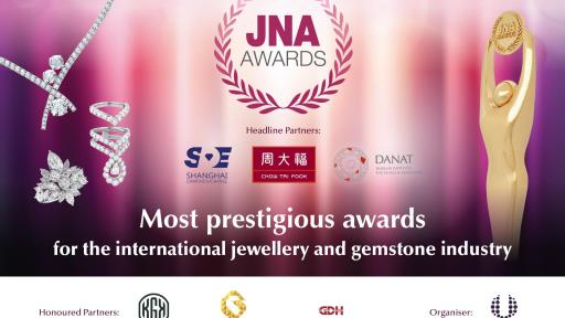 Headline Partners Chow Tai Fook, Shanghai Diamond Exchange, the Bahrain Institute for Pearls and Gemstones together with Honoured Partners KGK Group, Guangdong Gems & Jade Exchange, and Guangdong Land Holdings Limited support the JNA Awards to recognise excellence and innovations.