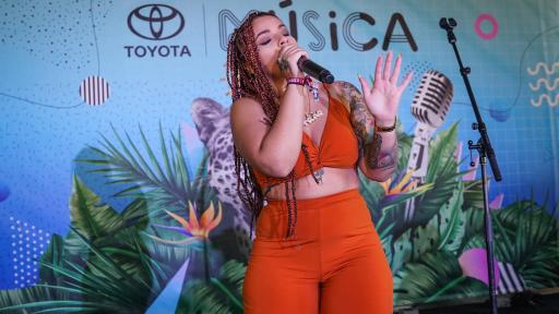 "Puerto Rican latin trap singer, Joha ""La Primera Dama"" performed on the Toyota Music Den stage during day 3 of Ruido Fest 2018 in Chicago."