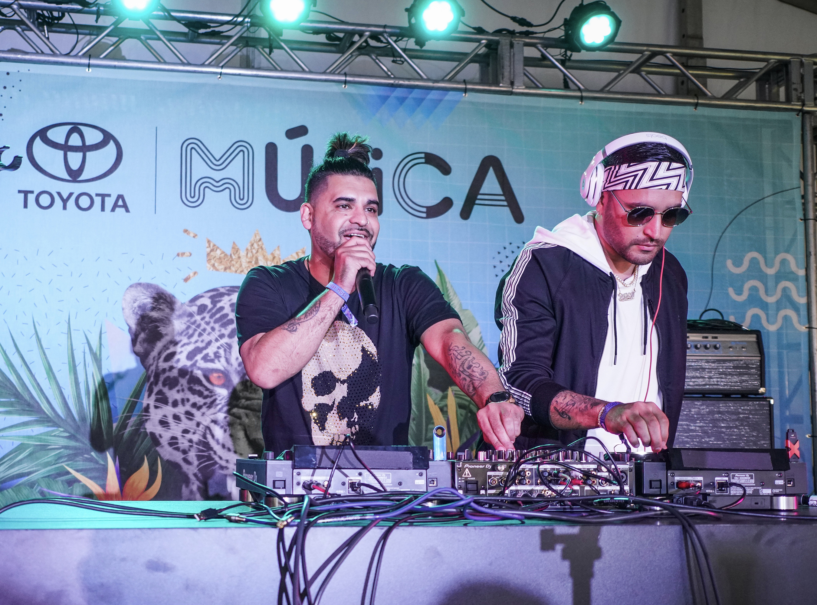 Two-time Grammy award winning producers, writers and DJs, Play-N-Skillz had the crowd dancing during their performance on the Toyota Music Den stage at Ruido Fest 2018.