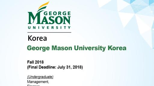 Admission Info of George Mason Univ. of Korea