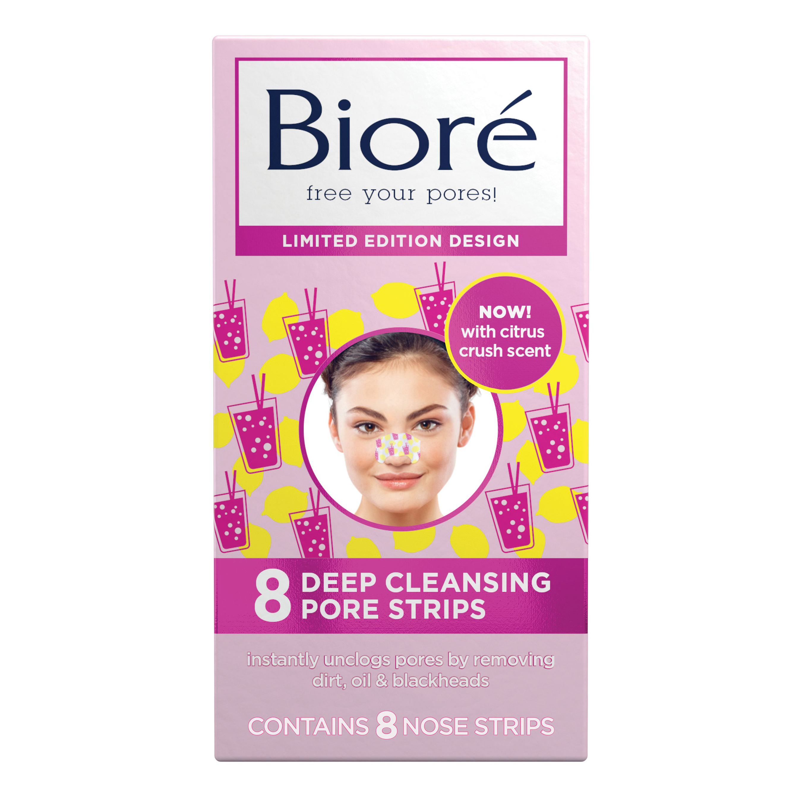 Bioré® Skincare's new Limited Edition Citrus Crush Deep Cleansing Pore Strips Design 2